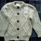 Childrens Handloomed Button Up Cardigan
