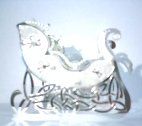 Silver Sleigh Decoration