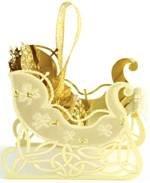 Gold Sleigh Decoration