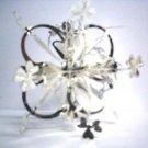 Silver Harp Snowflake Design Decoration