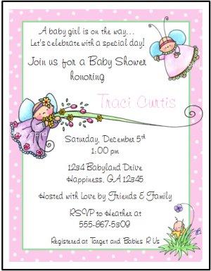 Fairy Custom Baby Shower Invitations