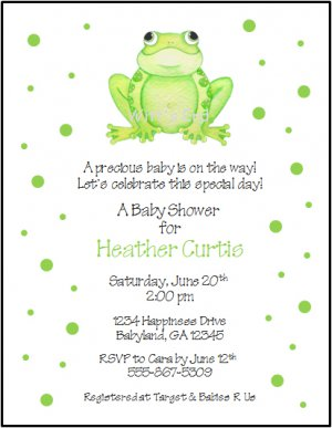 Frog dots custom baby shower invitations filmwisefo