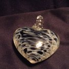 Black / White Glass Heart