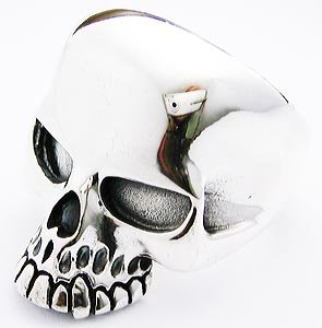 KEITH RICHARD SILVER SKULL RING SELECTABLE SIZES