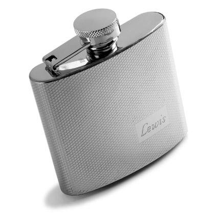 Textured Stainless Steel Flask  GC118