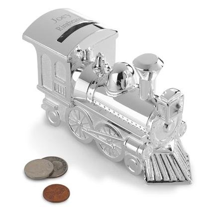 Silver Plated Train Bank GC199