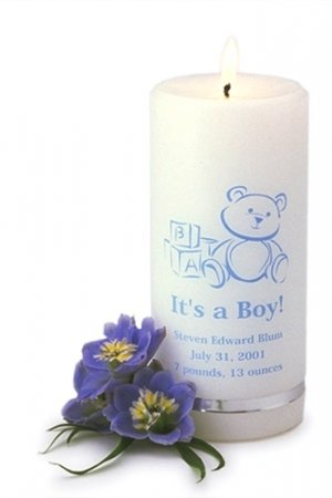 Personalized It's a Boy Candle GC320