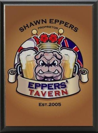 Bulldog Pub Sign