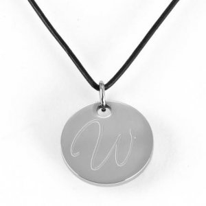 Personalized Round Pendant Necklace GC293