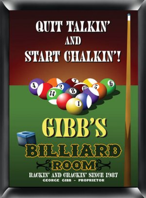 Billiards Pub Sign