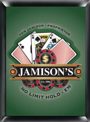 Poker pub sign
