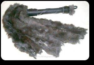 Black Rabbit Hide Flogger