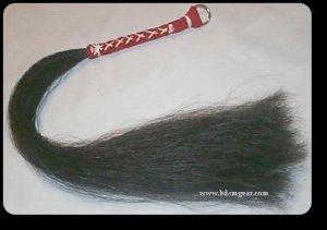 Black Small  Horsehair Flogger