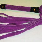 20 Lash 1/2 Inch Wide Purple Suede Flogger