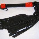 20 Lash 1/2 Inch Wide Black Suede Flogger