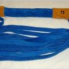 20 Lash 1/2 Inch Wide Blue Suede Flogger