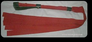 4 Foot Red Suede Gorean Flogger