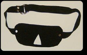 Black  Suede Blindfold