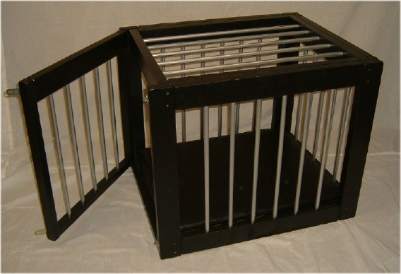 Heavy Duty Wood and Vinyl Cage Large
