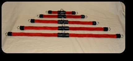 Deluxe Red Suede with Black Leather trim Spreader Bars (set of 5)