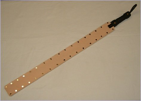 """24"""" - 40"""" Tooling Leather Prison Strap"""