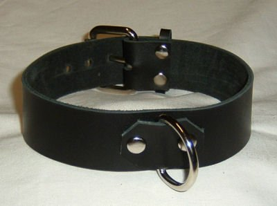 Basic 1 Ring Leather Collar - Roller Buckle