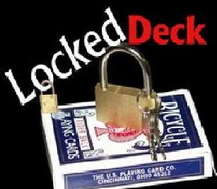Locked Deck, Perform Magic with a Locked Deck of Cards, Bicycle Card Stock (2033)