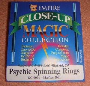 Psychic Spinning Rings, Easy Visual Magic (4681
