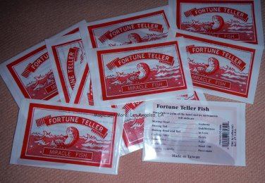 Fortune Teller Fish, Fun Party Favor, Lot of 10 (4077)