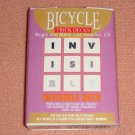 Invisible Deck, Bicycle, Poker Size, Rider Back, Blue (2130B/2127R)