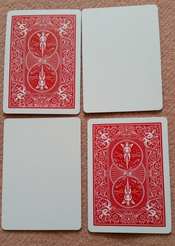 Blank Face Bicycle Deck of 56 Cards, Red Backs (2213)