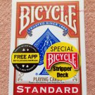 Stripper Deck, Bicycle Red Backs (2201)