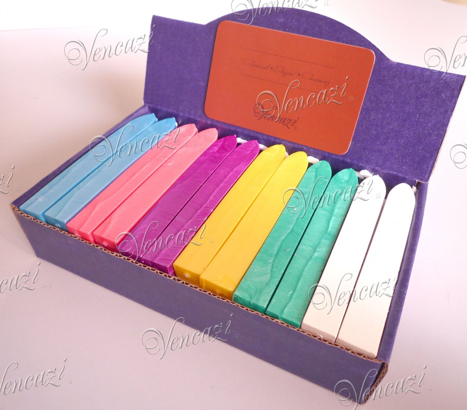 36pcs Boxed Elastic Wicked Sealing Wax - Pastel Serial (+FREE GIFT!!!)