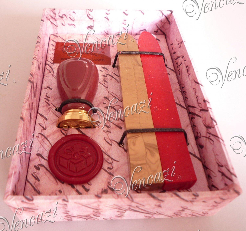 """""""Gift"""" - Ceramic Mini Seal w/2pcs Sealing Wax Gift Set"""
