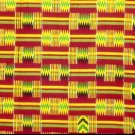 Kente cloth (red & gold)