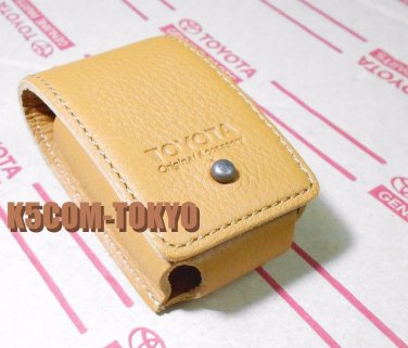 OEM BROWN LEATHER MADE SMART KEY CASE FOR LAND CRUISER 200 GENUINE TOYOTA PART