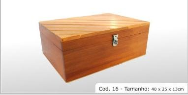 """hardwood box Cod 16 15.75x9.84x5.12"""" (40x25x13cm)"""