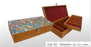 """hardwood box cod 02. 18.11x8.67x3.94"""" (46x22x10cm)"""