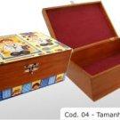 """hardwood box cod 04. 13.78x9.84x5.12"""" (35x25x13cm)"""