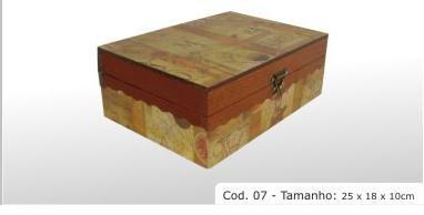 """Hardwood box Cod 07 9.8x7.1x3.9"""" (25x18x10cm)"""