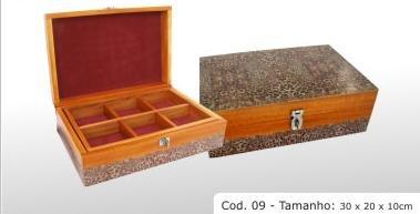 """Hardwood box cod 09 11.8x7.9x3.9"""" (30x20x10cm)"""