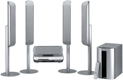 Sony DAVFC9 - 1000 Watts - 5 Disc DVD/SACD Dream Home Theater System with 4 Tower Speakers