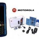 Motorola L7 SLVR Limited Edition - Metalic Blue Slim Cell Phone + H700 Blue Bluetooth (Unlocked)