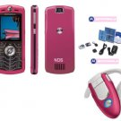 "Motorola L7 SLVR ""Limited Edition Pink"" Ultra Slim Cellular Phone Bluetooth Combo (Unlocked)"