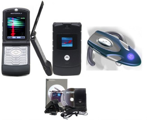 Motorola V3 - Black Razr Bluetooth Combo (Unlocked)