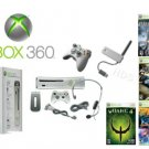 "Xbox 360 ""Ultimate Premium Gold Pack""- 7 Games, 2 Wireless Controllers + Wireless Network Adapter"