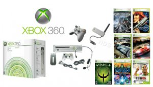 """Xbox 360 """"Ultimate Premium Gold Pack""""- 7 Games, 2 Wireless Controllers + Wireless Network Adapter"""