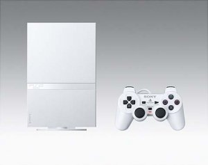 "Ultra Slim ""Ceramic White"" Playstation 2 Video Game System"