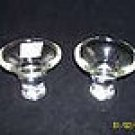 Clear Glass Candle holders, reversable.