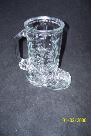 Libby, Clear Glass Drinking Boot.